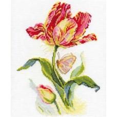 """Набор для вышивки Алиса 2-14 """"Тюльпан и бабочка"""""""