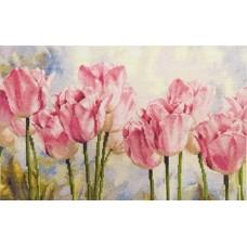 """Набор для вышивки Алиса 2-37 """"Розовые тюльпаны"""""""