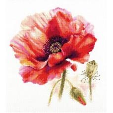Набор для вышивки Алиса 2-46 Мак. Ярко-красный