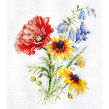 Набор для вышивки Алиса 2-48 Букетик с маком