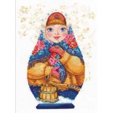 """Набор для вышивки Алиса 6-07 """"Матрешки. """"Зимняя-красна"""""""