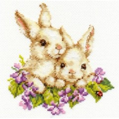 """Набор для вышивки Алиса 1-11 """"Крольчата"""""""