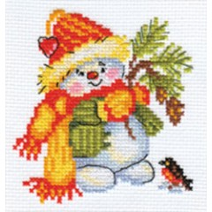 "Набор для вышивки Алиса 0-59 ""Снеговичок"""