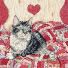 """Набор для вышивки Anchor APC955 """"Кот и сердце"""""""