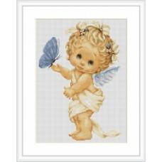 """Набор для вышивания Luca-S B368 """"Ангелочек с бабочкой"""""""