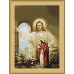 """Набор для вышивания Luca-S B411 """"Иисус стучащийся в дверь"""""""