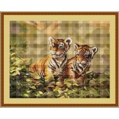 "Набор для вышивания Luca-S B442 ""Тигрята"""