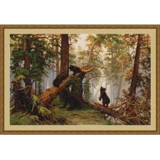 """Набор для вышивания Luca-S B452 """"Утро в сосновом лесу"""""""