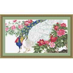 """Набор для вышивания Luca-S B462 """"Павлины в цветах"""""""