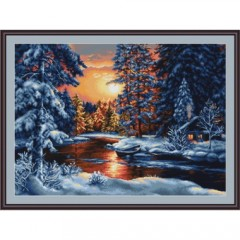 "Набор для вышивания Luca-S B477 ""Зимний пейзаж"""