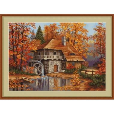 """Набор для вышивания Luca-S B481 """"Осенний пейзаж"""""""