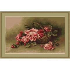 """Набор для вышивания Luca-S B483 """"Корзина с розами"""""""