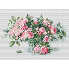"""Набор для вышивки Luca-S BL22866 """"Букет чайных роз"""""""