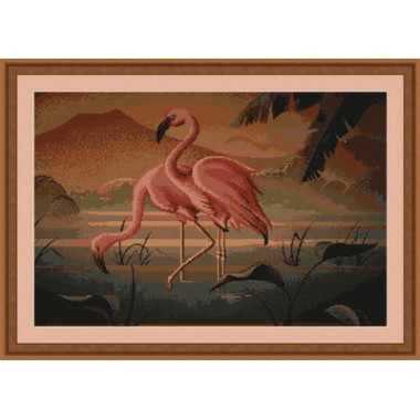 "Набор для вышивки Luca-S G339 ""Пара фламинго"""