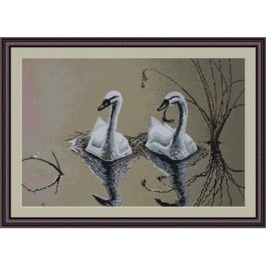 "Набор для вышивки гобелен Luca-S G346 ""Пара лебедей"""