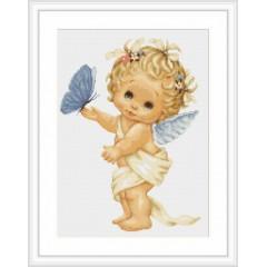 """Набор для вышивки Luca-S G368 """"Ангелочек с бабочкой"""""""