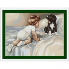 """Набор для вышивки Luca-S G374 """"Мальчик с собакой"""""""