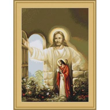 """Набор для вышивки Luca-S G411 """"Иисус стучащийся в дверь"""""""