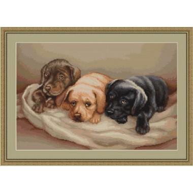 "Набор для вышивки Luca-S G434 ""Три собачки"""
