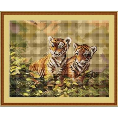 "Набор для вышивки Luca-S G442 ""Тигрята"""