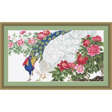 """Набор для вышивки Luca-S G462 """"Павлины в цветах"""""""