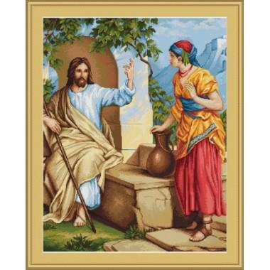 """Набор для вышивки Luca-S G478 """"Исус и самаритеанка"""""""