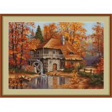 "Набор для вышивки Luca-S G481 ""Осенний пейзаж"""