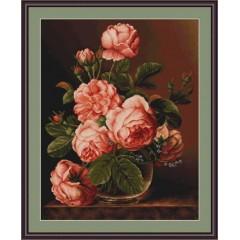 "Набор для вышивки Luca-S G488 ""Ваза с розами"""