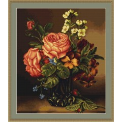 """Набор для вышивки Luca-S G491 """"Ваза с розами и цветами"""""""