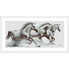 """Набор для вышивки Luca-S G495 """"Белые лошади"""""""