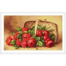 """Набор для вышивки Luca-S G499 """"Корзинка с розами"""""""