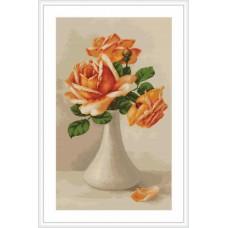 """Набор для вышивки Luca-S G505 """"Оранжевые розы в вазе"""""""