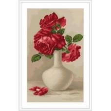 """Набор для вышивки Luca-S G506 """"Красные розы в вазе"""""""
