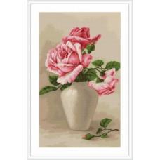 """Набор для вышивки Luca-S G507 """"Розовые розы в вазе"""""""