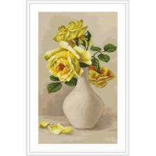 """Набор для вышивки Luca-S G508 """"Желтые розы в вазе"""""""