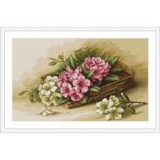 """Набор для вышивки Luca-S G510 """"Корзинка с цветами"""""""