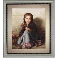 """Набор для вышивки Luca-S G513 """"Девочка с цветами"""""""