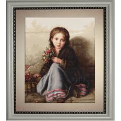 """Набор для вышивки гобелен Luca-S G513 """"Девочка с цветами"""""""