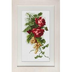 """Набор для вышивки Luca-S B2229 """"Красные розы с виноградом"""""""
