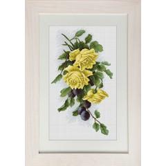 """Набор для вышивки Luca-S B2230 """"Жёлтые розы с виноградом"""""""