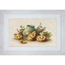 """Набор для вышивки Luca-S BL2247 """"Натюрморт с грибами"""""""