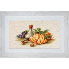 """Набор для вышивки Luca-S BL2250 """"Натюрморт с апельсинами"""""""