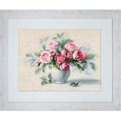 """Набор для вышивки Luca-S BL2280 """"Этюд с чайными розами"""""""