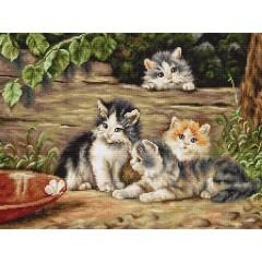 """Набор для вышивания Luca-S B556 """"Кошки"""""""