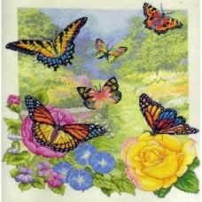 """Набор для вышивания Bucilla 45438 """"Сад бабочек"""""""