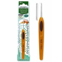 Стальной крючок для вязания с мягкой ручкой Clover Soft Touch Art 1024 (0,9mm)