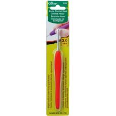 Крючок для вязания алюминиевый Amour Clover 1052 с мягкой ручкой 3.0 мм