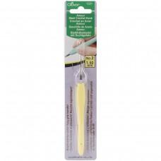 Крючок для вязания стальной Amour Clover 1221 с мягкой ручкой 1.50 мм