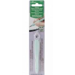 Стальной крючок для вязания с мягкой ручкой Amour Clover Япония 0.90мм Art 1224