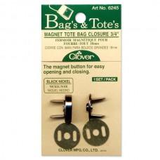 Магнитные кнопки-застежки Clover 6245 никель 18 мм